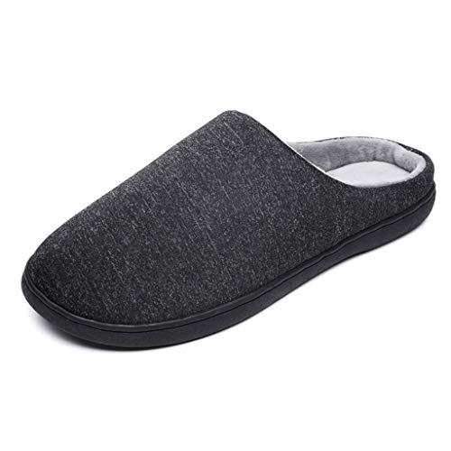 KERULA Herren Damen Hausschuhe Pantoffeln Baumwolle Plüsch Wärme Weiche Herbst und Winter Kuschelige Home rutschfeste Slippers Schuhe