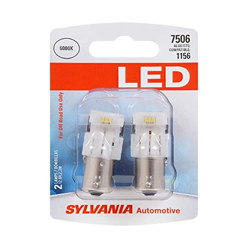 SYLVANIA 7506 White LED Bulb, (Contains 2 Bulbs)