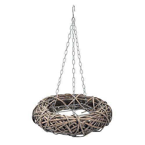 AmaCasa Weidenkranz Braun - Kranz mit Haken und Gitter - Kranz zum dekorieren - Dekokranz D40cm (Braun)