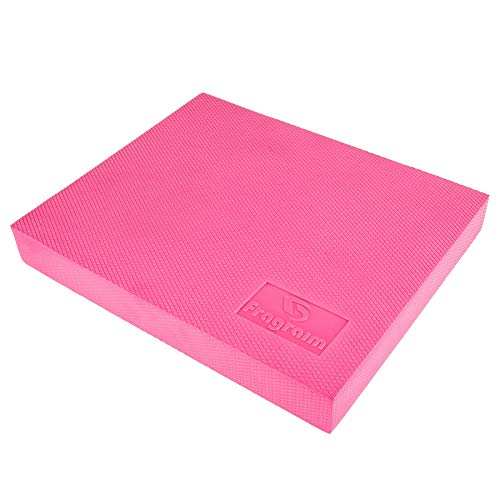 Balance Pad, Non-Slip Foam Mat & AnklesKnee Pad Cushion for Physical Therapy, Rehabilitation, Core Balance and Strength Stability Training, Yoga & Fitness, 15.7 x 13 x 2 Inch (Pink)
