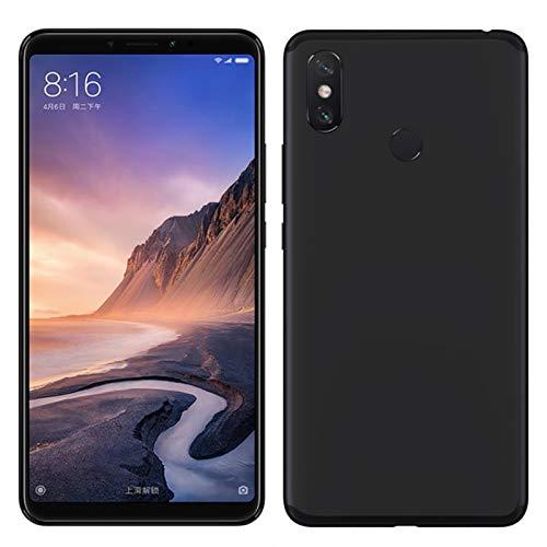 TBOC® Funda de Gel TPU Negra para Xiaomi Mi MAX 3 (6.9 Pulgadas) de Silicona Ultrafina y Flexible [No es Compatible con el [Xiaomi Mi MAX]