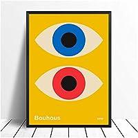ポスター&プリント、アートワーク絵画バウハウス現代ミッドセンチュリー油絵ポスタープリントキャンバス壁の写真ホームルームの装飾-50X70CMフレームなし