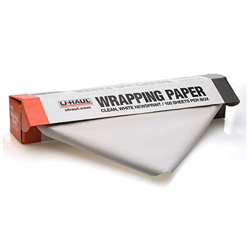 "U-Haul Newsprint Packing Paper for Moving and Shipping - 500 Sheets - 25 lbs. - 24"" x 30"" Sheets"