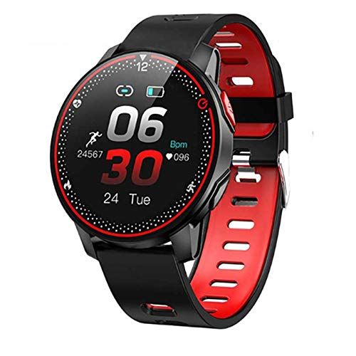 LJMG Smart Watch, IP68 Deportes Impermeables, Nuevo R18, Rastreador De Fitness, Monitor De Ritmo Cardíaco, Smartwatch Bluetooth para Hombres Y Mujeres para Android iOS,B