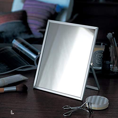 ベルメゾン『肌色の再現性が高くメイクしやすい銀引きミラー』