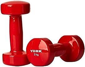 Vinilo con mancuernas de York 6 kg - rojo