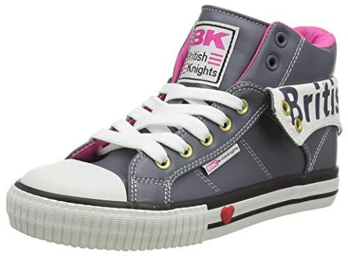 British Knights Damen ROCO Sneaker, Dk Grey Fuchsia, 37 EU