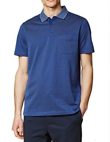 Maerz Klassisches Polo-Shirt blau (361 Indigo Blue) 56