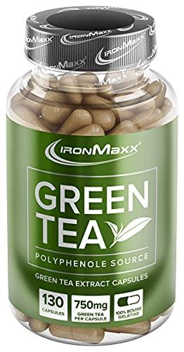 IronMaxx Green Tea Grüntee-Extrakt Kapseln, 130 Stück (1er Pack)