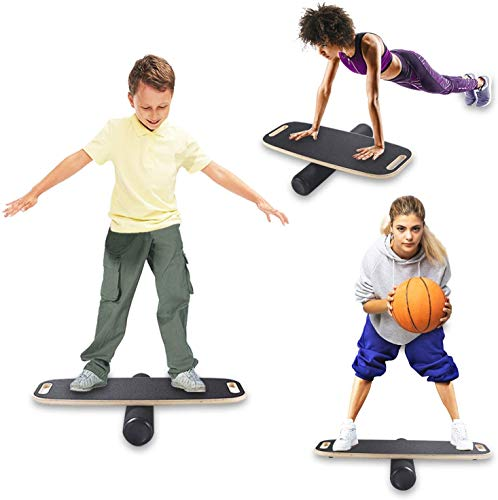 WV WONDER VIEW Balance Board, Wobble Board Balance Trainer for Fitness with Roller-Board Balancing for Surf, Ski, Snowboard, Skateboarding,and Exercise