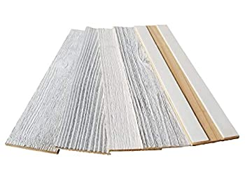 Whitewash Reclaimed Barn Wood Wall Planks - Easy Peel and Stick Wood - 10 Sq Ft 3