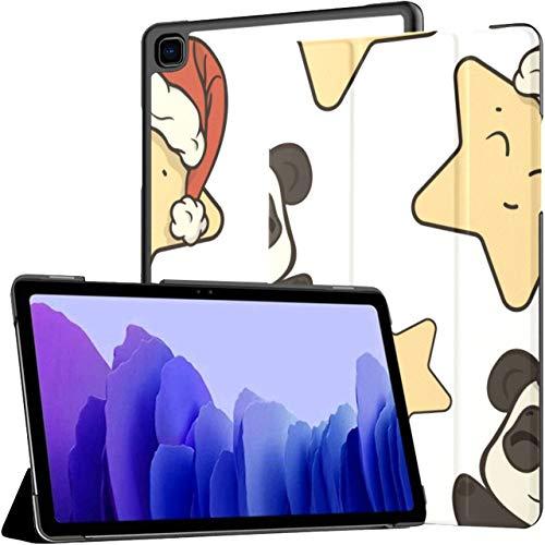 Funda para Galaxy Tab A7 10.4 2020, patrón navideño para niños, con diseño de Estrella Panda, Piel sintética, Funda Plegable para Soporte, activación automática/Reposo, Ajuste para Samsung Galaxy T