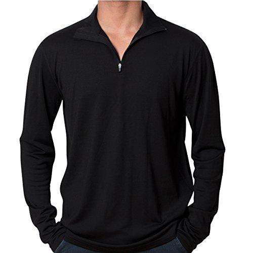 Cold Snap Merino, 1/4 Zip Top, Midweight, 210 GSM, 100% Merino Wool, Black, Med