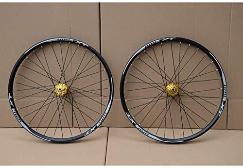 LIMQ MTB Bike Wheelset 26 27.5 29 In Mountain Bike Bike Doble Capa Cojinete Sellado con Borde De Aluminio 7-11 Velocidad Cassette Hub Freno De Disco 1100g QR,A-29inch