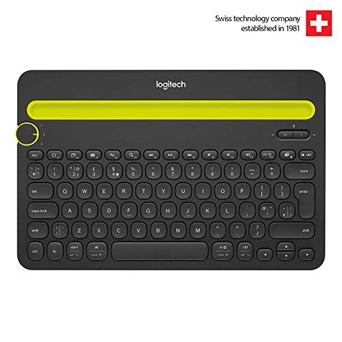 Logitech Bluetooth Multi-Device Keyboard K480 - Black - works with Windows and Mac Computers, Android and iOS Tablets and Smartphones