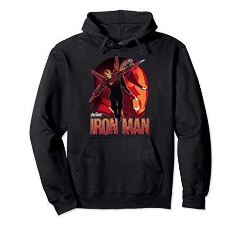 Marvel Infinity War Iron Man Profile Felpa con Cappuccio