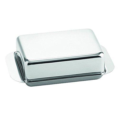 Weis Butterdose für 1/2 Pfund, Edelstahl, Silber, 15 x 9.4 x 4.2 cm