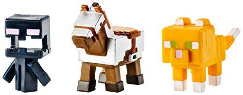 Armored Horse, Screaming Enderman & Tabby Cat Mini Figure (3 Pack)