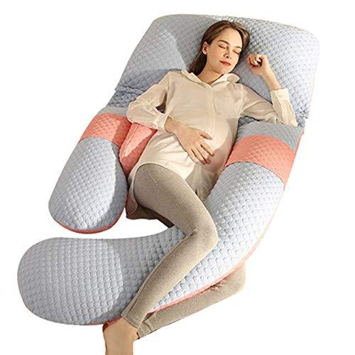 Bulawlly Cuerpo Completo Embarazo Almohada, Almohada de Espuma viscoelástica Embarazo, Comodidad para Dormir, elevación de Las piernas, Que apoya detrás y el Vientre, Maternidad Lateral para U