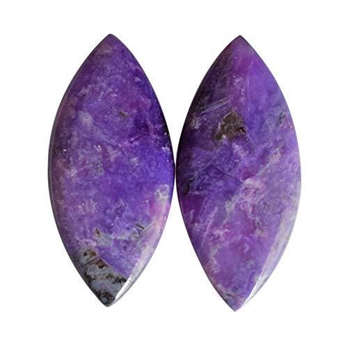 Cabujón de sugilita de color morado oscuro, tamaño 24 x 11 x 2,5 mm, piedra para pendientes, bisutería, proveedores de sugilite AG-13606