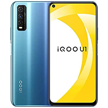 """Original IQOO U1 4G LTE Mobile Phone 6G+128GB Snapdragon 720G Android 10 6.53"""" 2340X1080 48.0MP 18W Super Charger 4500mAh Fingerprint Face Cellphone by-(Real Star Technology) (Blue 6+128)"""