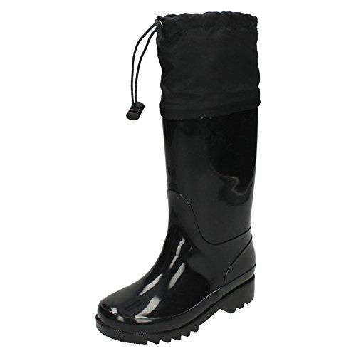 Spot On , Bottes en caoutchouc fille - Noir - noir, 11 UK