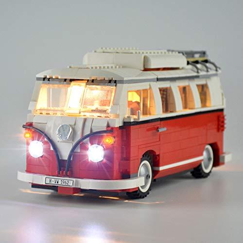Nlne Kit De Iluminación Led para Furgoneta Volkswagen T1-Compatible con Ladrillos De Construcción para Lego Modelo 10220-Juego De Legos No Incluido