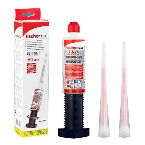 Fischer FIS VS 100 P resina Full-Hybrid ancorante chimico 100 ml,ancorante Chimico per fissaggi strutturali, confezione con 1 Cartuccia + 2 miscelatori inclusi,non serve pistola, 72525