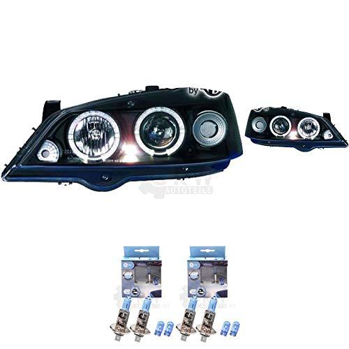 Scheinwerfer Set Astra G 97-04 Coupe Angel Eyes klar/schwarz DE-Licht