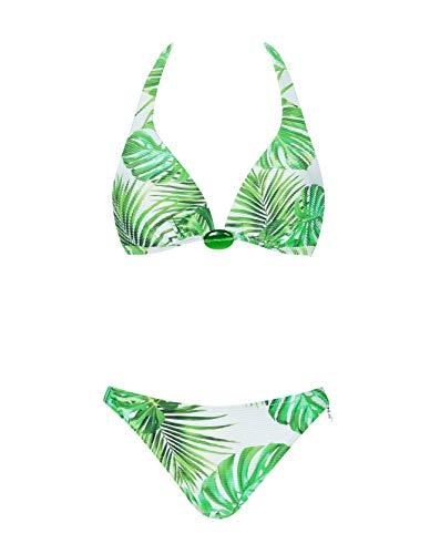 OPERA, Bikini-Set, Triangle Oberteil gefüttert ohne Bügel und Hüftslip, Delicious Green 61033 (42C, grün (75))