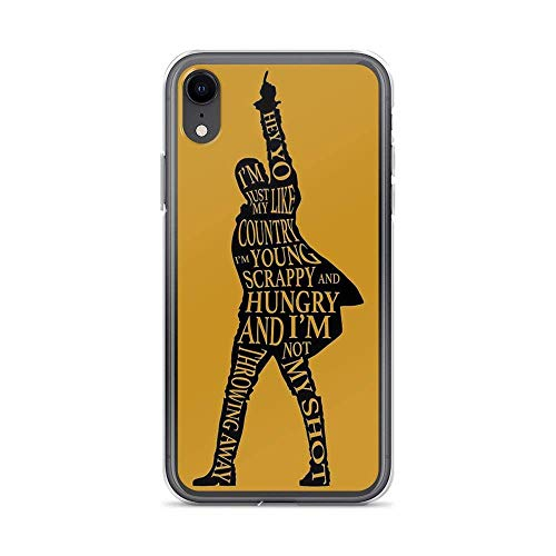 Diskoer Compatible with iPhone XR Case Hamilton Broadway Alexander American Musical Pure Clear Phone Cases Cover