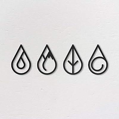 4 elements wall art
