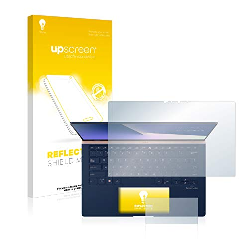 upscreen Entspiegelungs-Schutzfolie kompatibel mit Asus ZenBook 14 UX434FL – Anti-Reflex Bildschirmschutz-Folie Matt