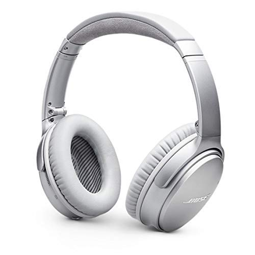 Bose QuietComfort 35 Wireless Headphones (Series II), Noise Cancelling, Silver, with Alexa Voice Control - 789564-0020