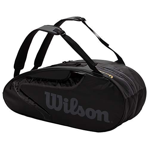 Wilson(ウイルソン) テニス バドミントン ラケットバッグ TEAMJ2.0 9PK (チームJ2.0 9パック) WR8008801001 BLACK/GREY ラケット9本収納可能 ウィルソン