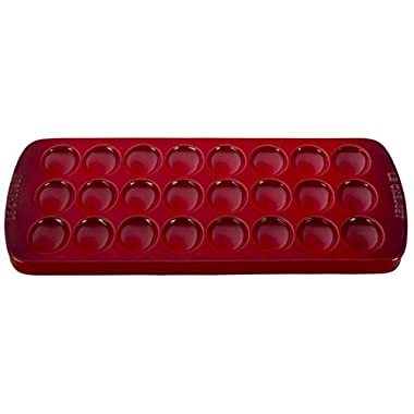 Le Creuset Stoneware Deviled Egg Platter, 16 1/4  x 8  x 1 , Cerise (Cherry Red)