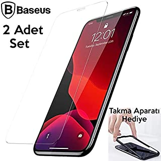 Baseus İPhone 11 Pro- X-XS 0.3mm Ful Tempered Cam Ekran Koruyucu 2 Adet Set ŞEFFAF