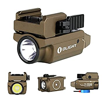 OLIGHT PL-Mini 2 Valkyrie 600 Lumens Magnetic USB Rechargeable Compact Weaponlight with Adjustable Rail  Desert Tan