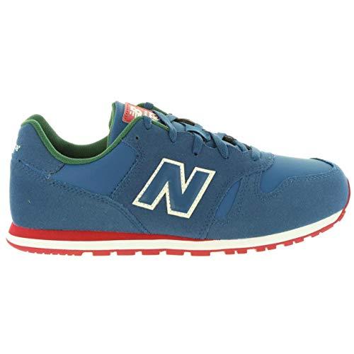 New Balance Zapatillas KJ373PDY Azul/Rojo, Deporte Unisex Adulto, 38 EU