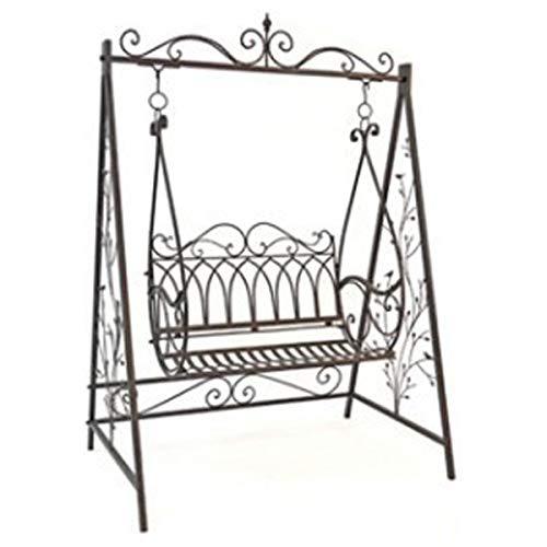 Balancelle hollywoodienne Gondole 1868 en métal fer forgé - Pour jardin