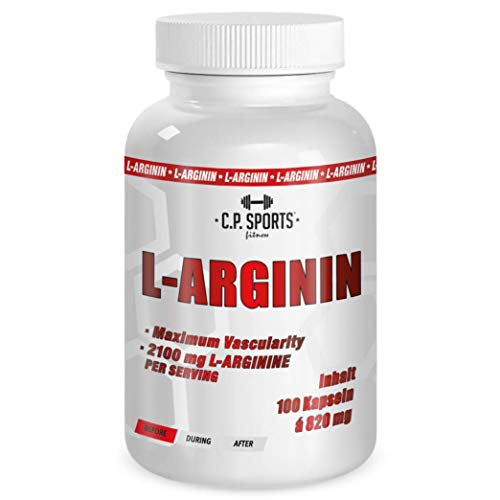 100{331837b7a32fd1c322ae85ec369f66e0d097879d72ea310d916c9269f7a96f37} Arginin mit Vitamin B6 C.P. Sports Pulver, Kapseln, vegan Pump Supplement ideal für Muskelaufbau, Kraftaufbau, Ausdauertraining, Pre-Workout Booster, 500g, 1000g, 5000g (100 - Kapseln)