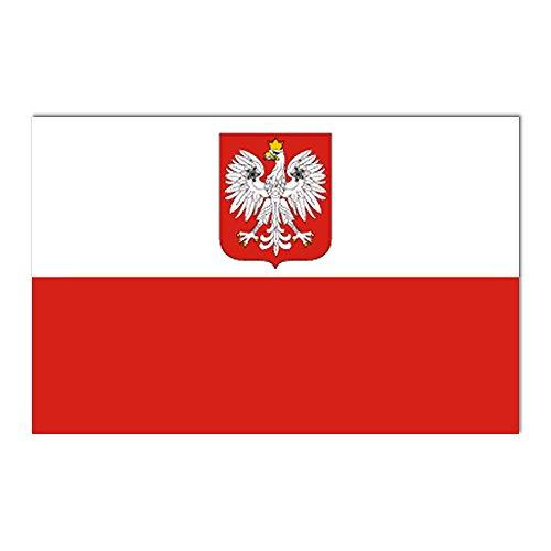 Taffstyle Fanartikel Fahne für Fussball WM & EM Länder Flagge 150cm x 90 cm mit Metallösen - Polen mit Adler