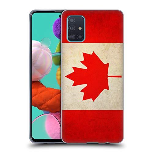 Head Case Designs Kanada Kanadisch Vintage Fahnen Soft Gel Handyhülle Hülle Huelle kompatibel mit Samsung Galaxy A51 (2019)