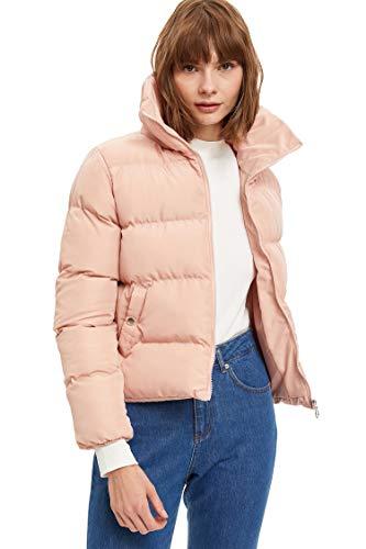 DeFacto Giacche da donna normali FIT Giacca imbottita da donna Abbigliamento esterno Mont cappotto per donna ROSA XS