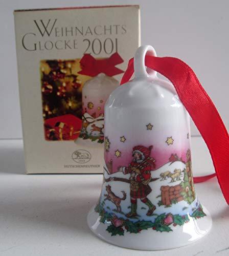Hutschenreuther - Weihnachtsglocke 2001 - Porzellanglocke - Glocke aus Porzellan - NEU - OVP - 1. Wahl