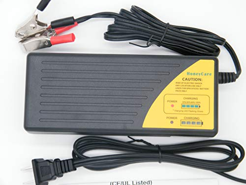 36V Lead acid battery charger Battery Desulfator,36V Trickle Charging with Clamps for Car,WheelchairMotorcycle,Lawn Mower,Boat RV,SUV,ATV,Sealed Lead Acid Battery-Repair Batteries