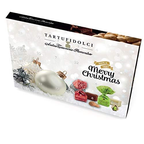 Cioccolatini al tartufo C&T - Calendario dell'Avvento - 24 esclusivi cioccolatini al tartufo premium piemontesi per l'Avvento con 24 miscele di Antica Torroneria Piemontese