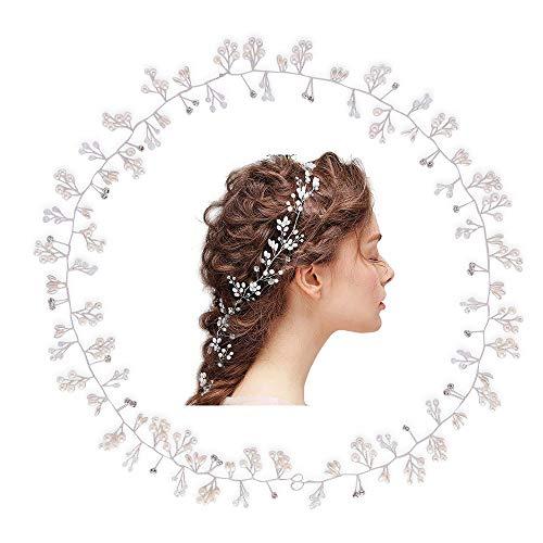 LONGBLE Bloemenkrans, bloemenkroon, boho, bloemenkroon, haarkrans, bruidsmeisjes, haarband voor dames en meisjes