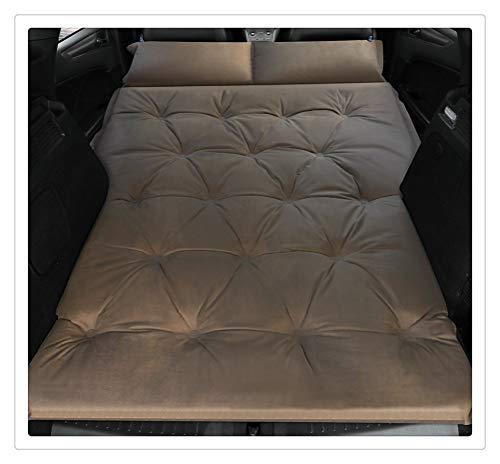 Yousiju Car Inflatable Bed SUV Car Mattress Row Car Travel Sleeping Pad Off-road Air Bed Camping Mat Air Mattress Airbed (Color : Double-Khaki)
