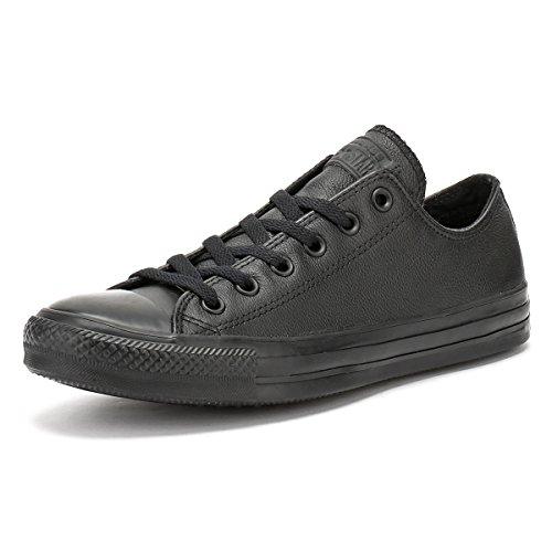 Converse All Star Ox Leather Monochrom Schwarze Sneakers-UK 10